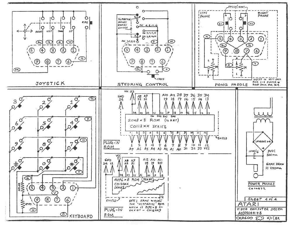 Schematic 2600 Accessories Low on wiring diagram for atari 7800