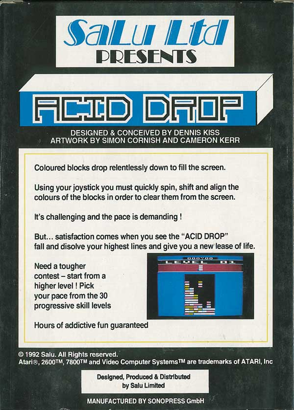 Acid Drop - Box Back