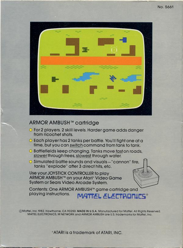 Armor Ambush - Box Back