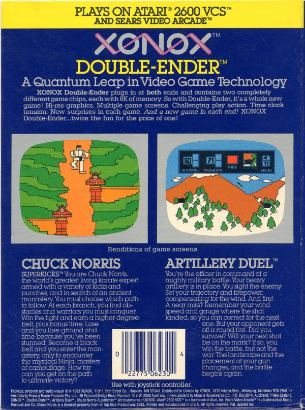 Artillery Duel/Chuck Norris Superkicks - Box Back