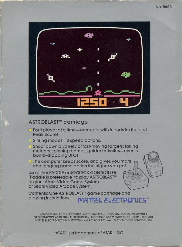 Astroblast - Box Back