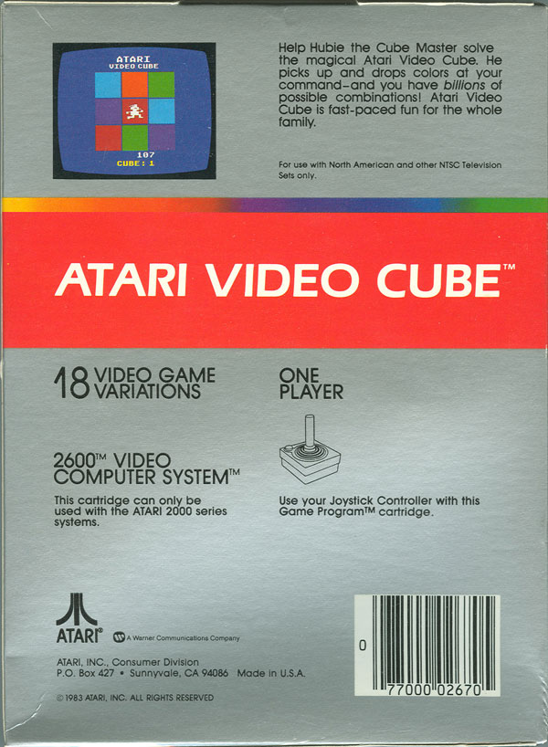Atari Video Cube - Box Back