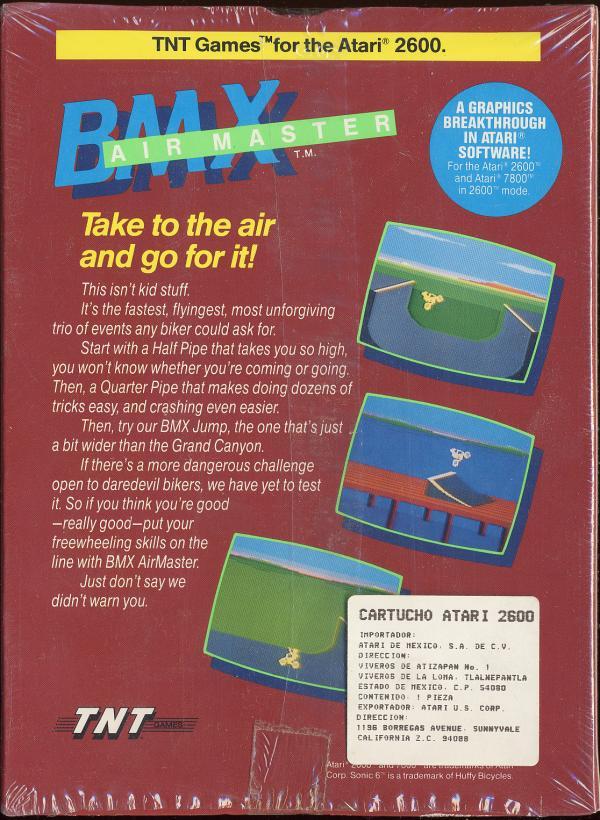 BMX Airmaster - Box Back