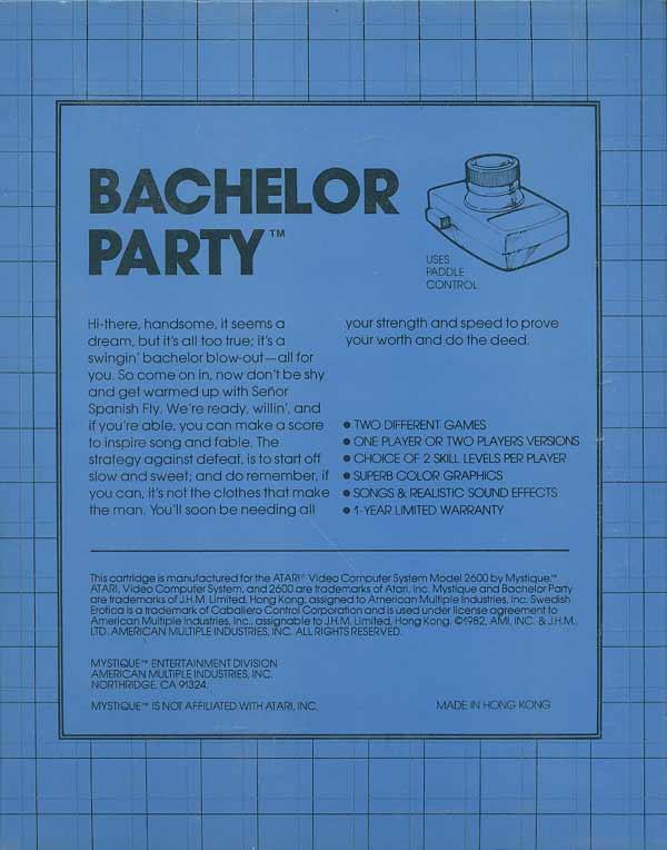 Bachelor Party - Box Back