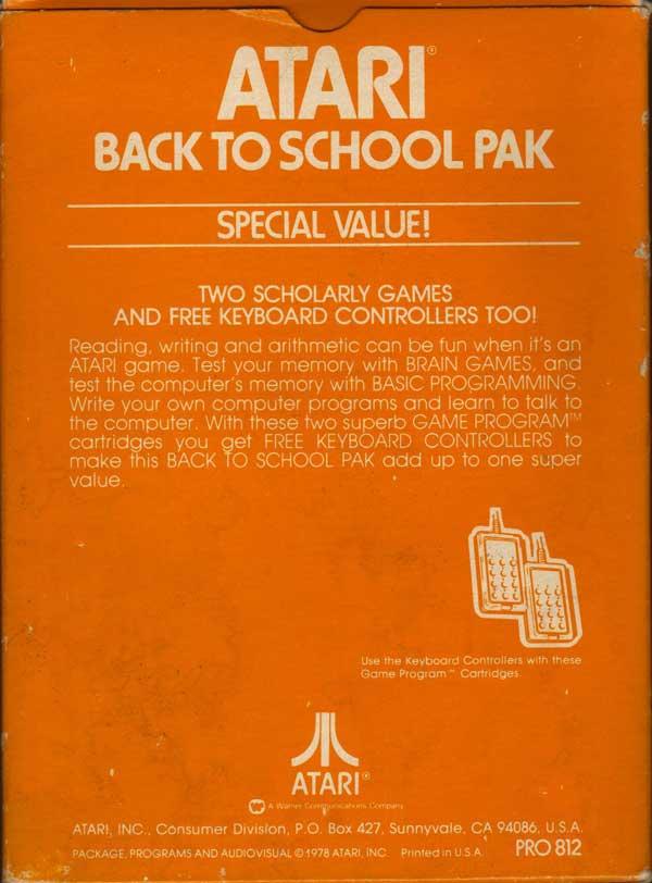 Back to School Pak - Box Back