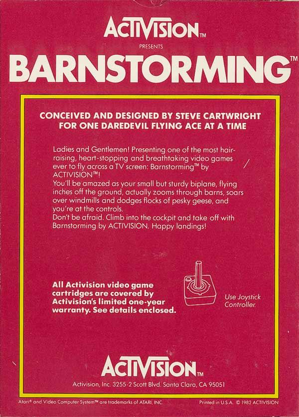 Barnstorming - Box Back