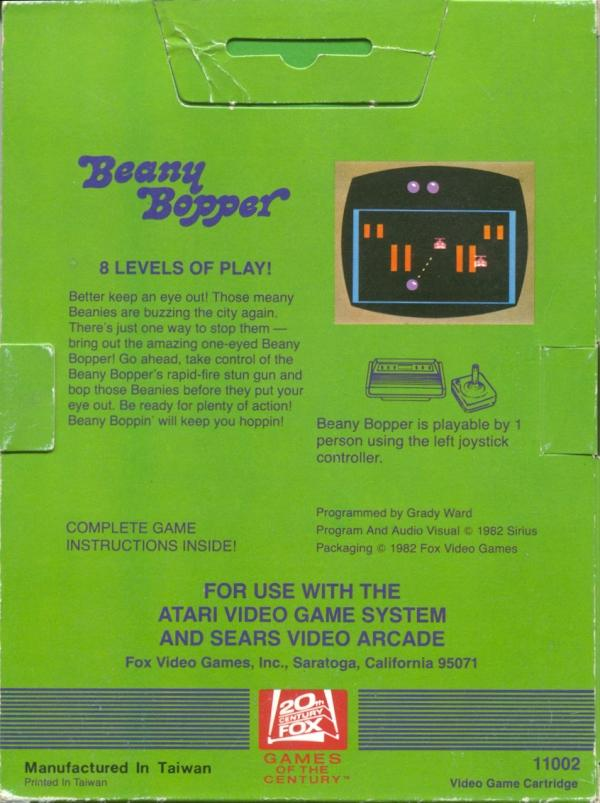 Beany Bopper - Box Back