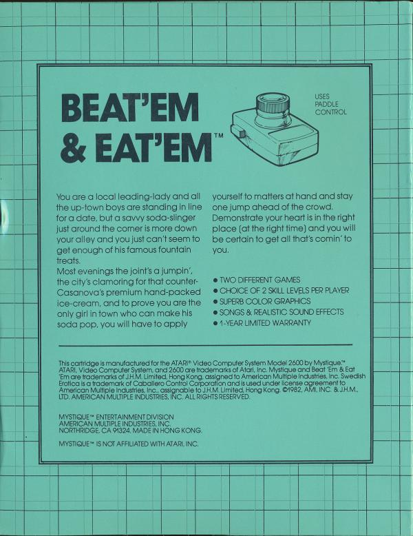 Beat 'Em & Eat 'Em - Box Back