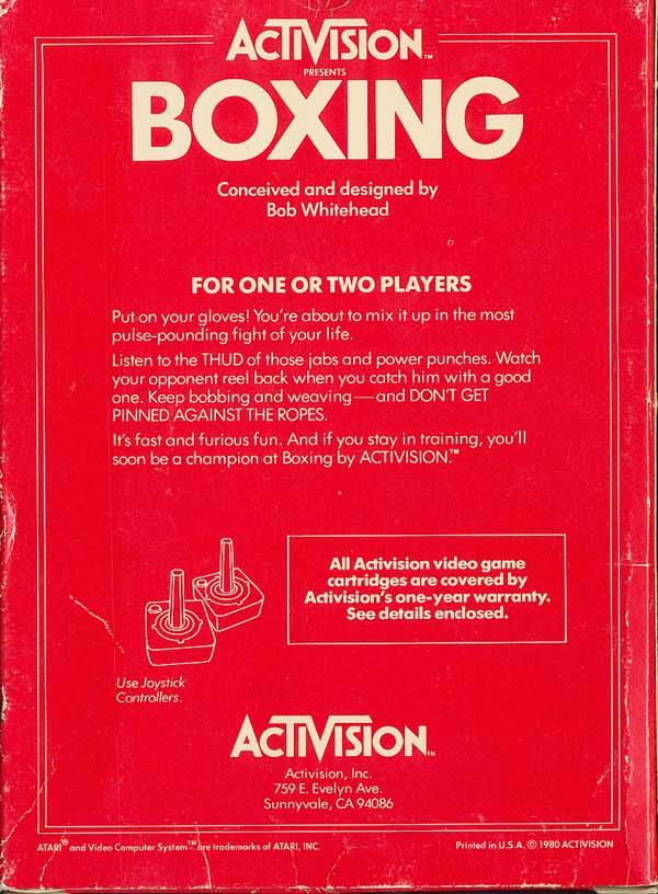 Boxing - Box Back