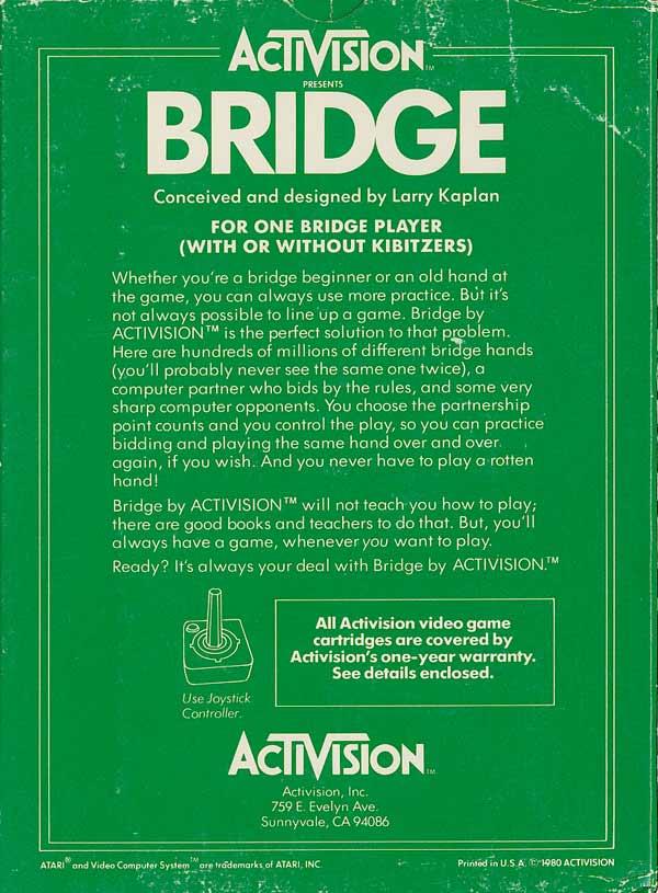Bridge - Box Back