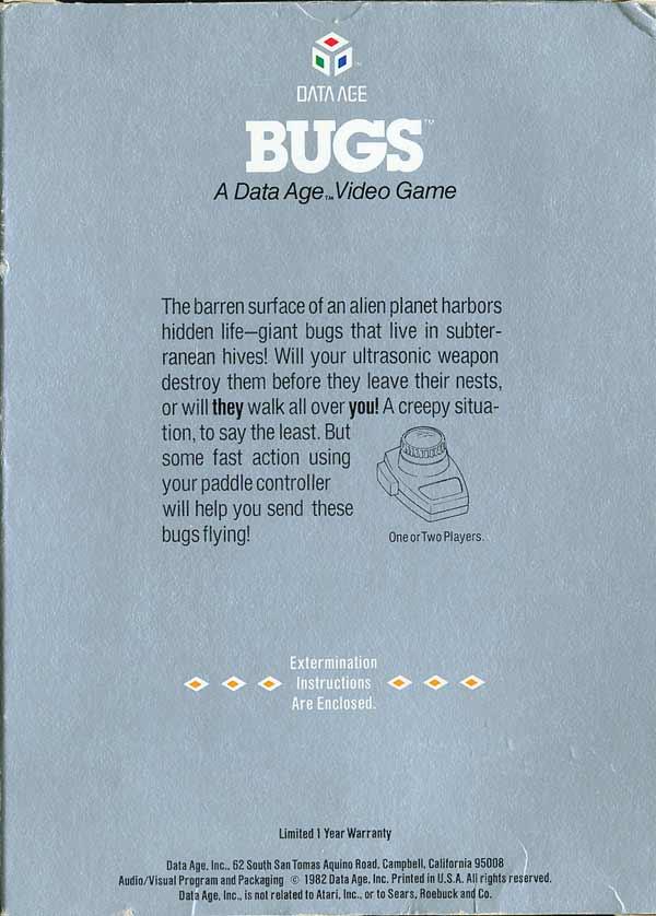 Bugs - Box Back