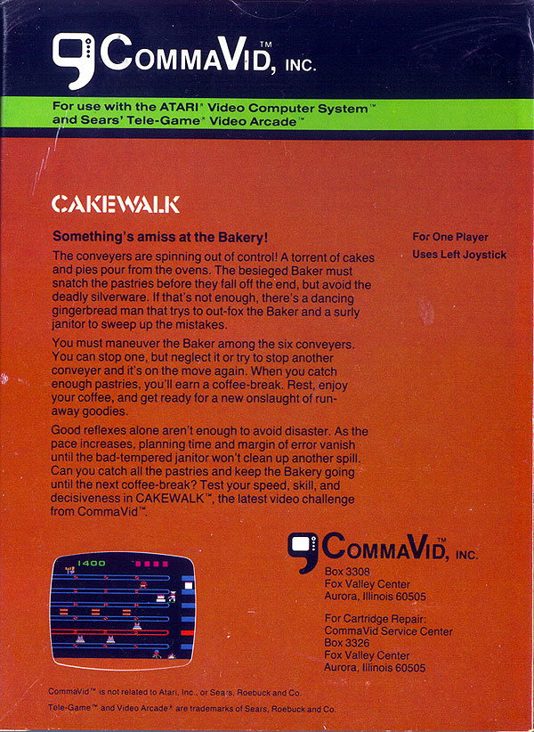 Cakewalk - Box Back