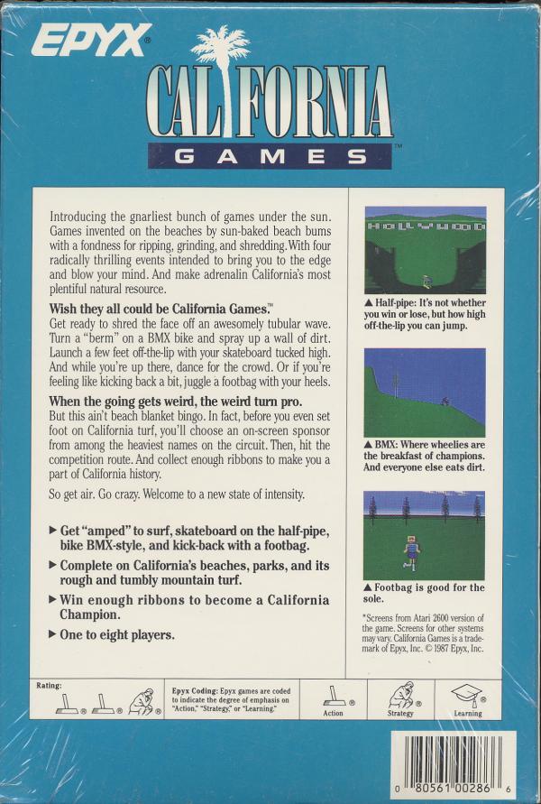California Games - Box Back