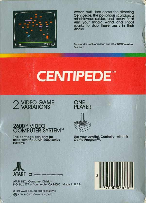 Centipede - Box Back