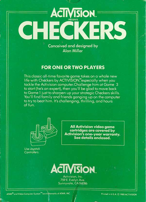 Checkers - Box Back