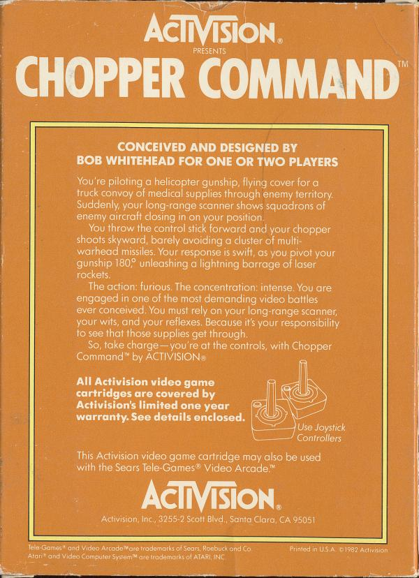 Chopper Command - Box Back