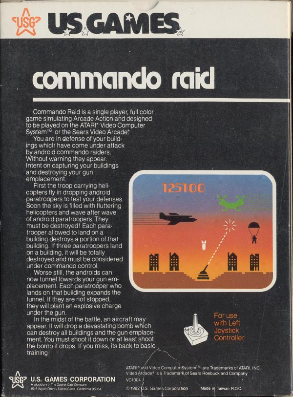 Commando Raid - Box Back