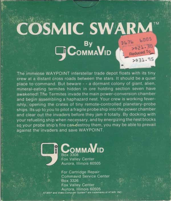 Cosmic Swarm - Box Back