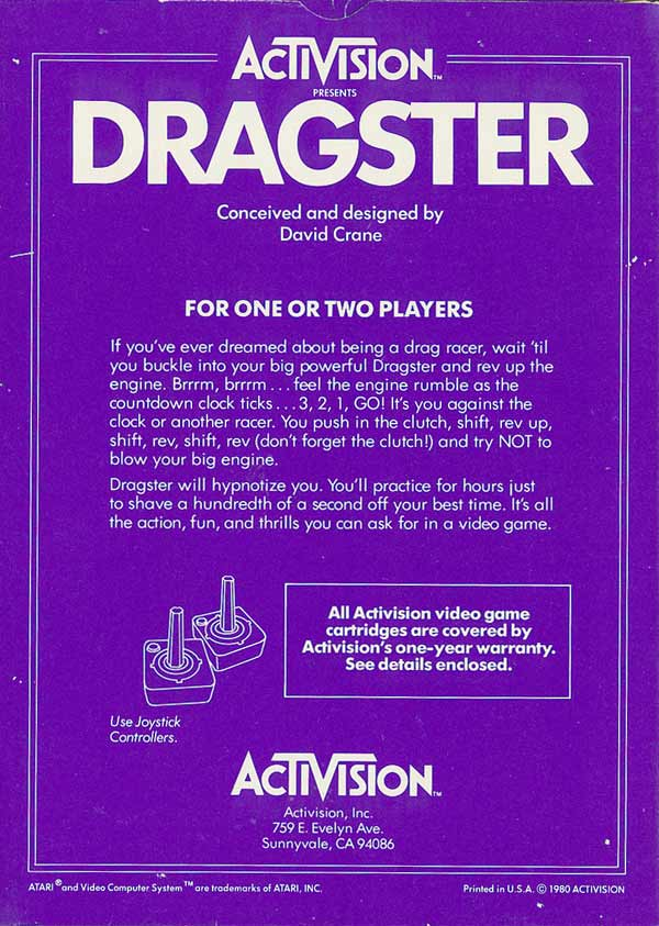 Dragster - Box Back