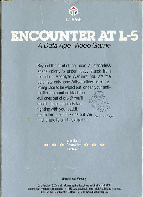Encounter at L5 - Box Back