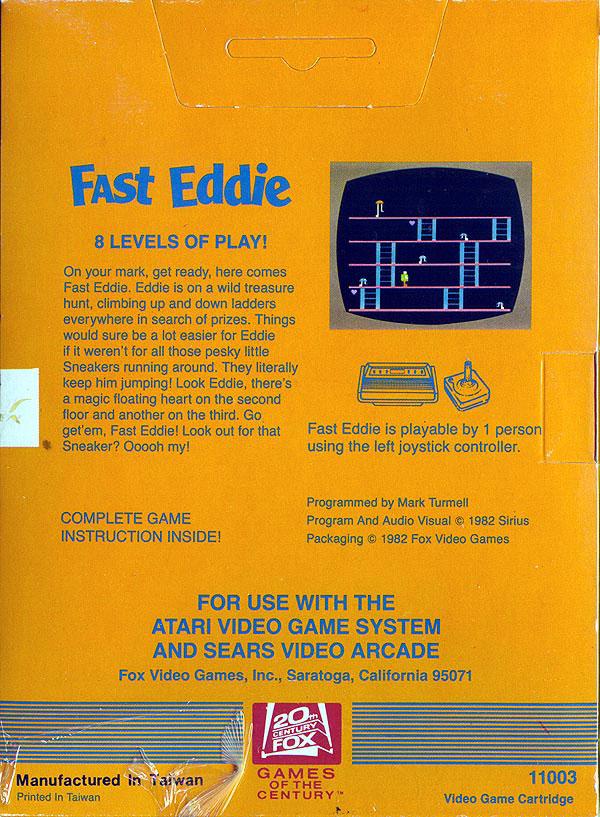 Fast Eddie - Box Back
