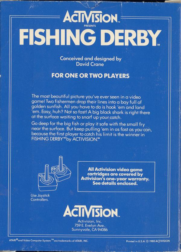 Fishing Derby - Box Back