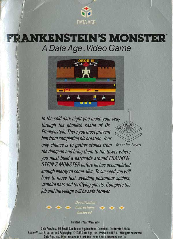 Frankenstein's Monster - Box Back