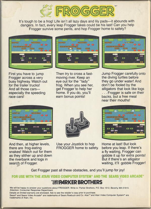 Frogger - Box Back