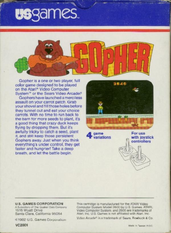 Gopher - Box Back