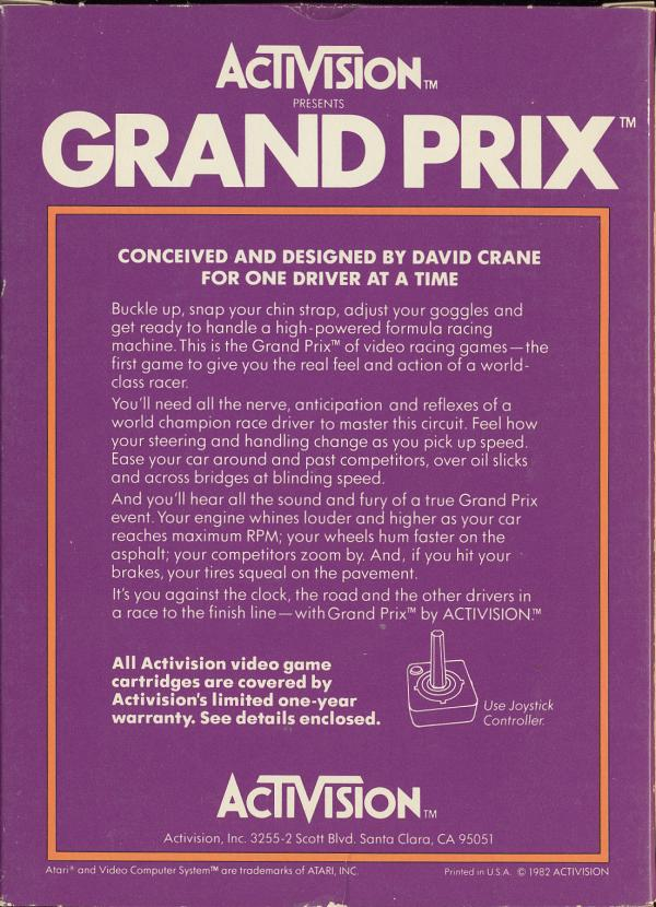 Grand Prix - Box Back