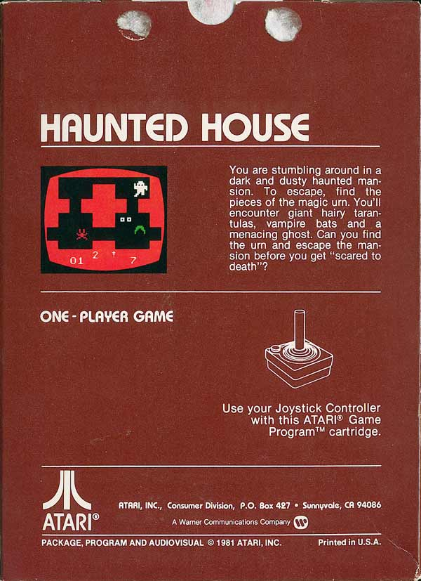 Haunted House - Box Back