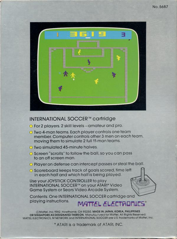 International Soccer - Box Back