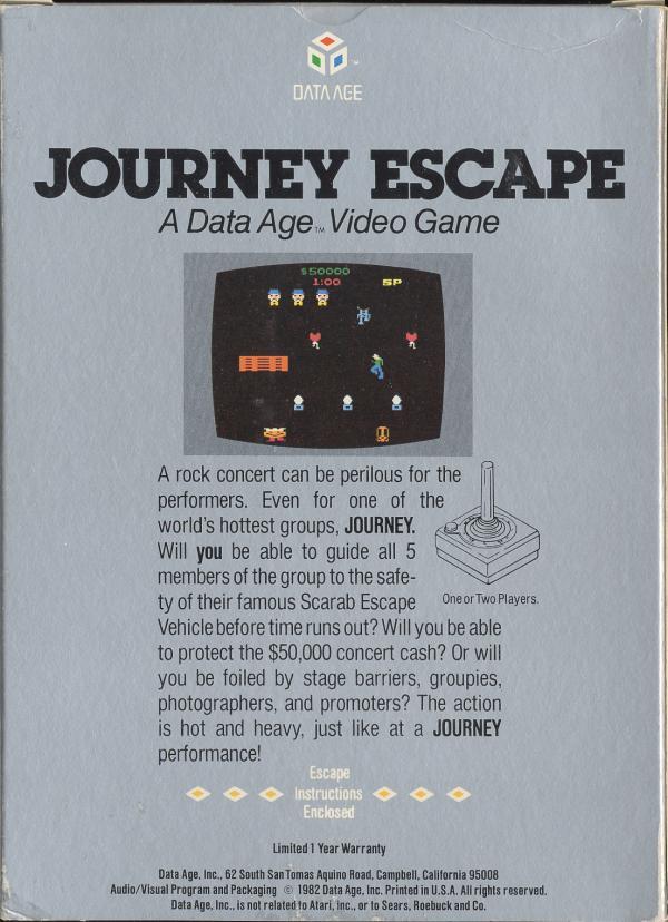 Journey Escape - Box Back