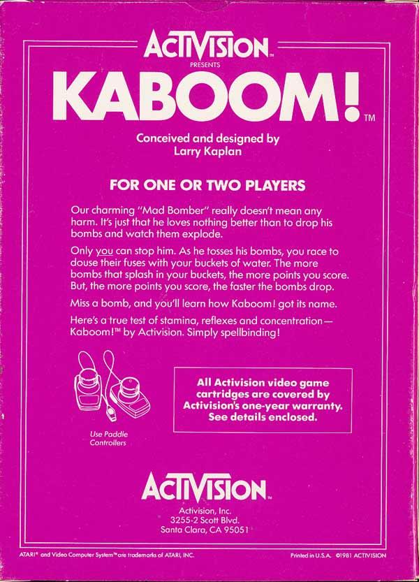 Kaboom! - Box Back