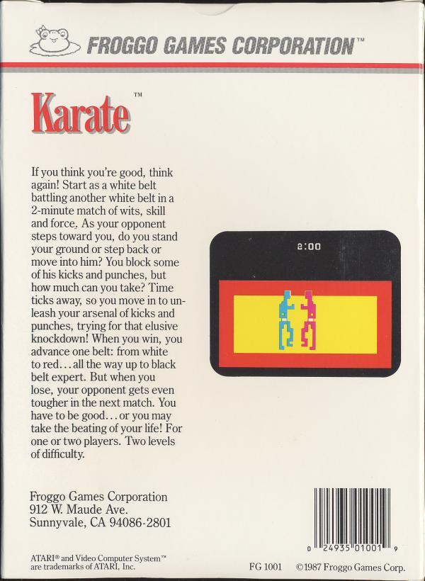 Karate - Box Back