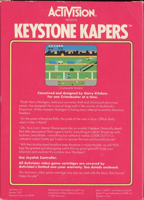 Keystone Kapers - Box Back