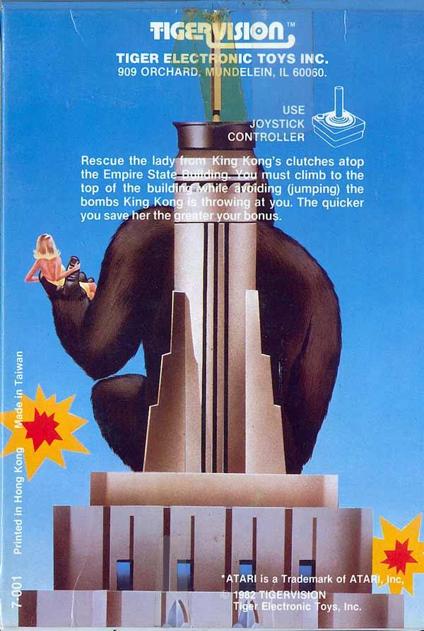 King Kong - Box Back
