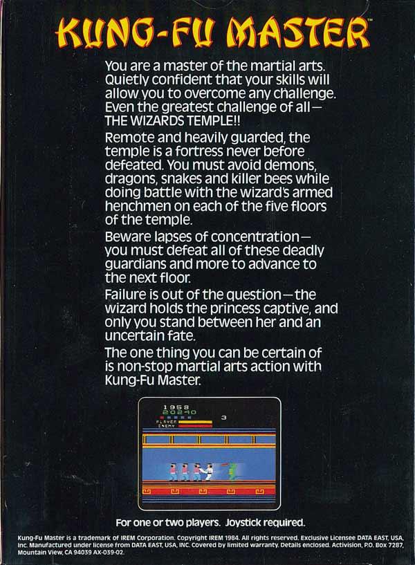 Kung Fu Master - Box Back