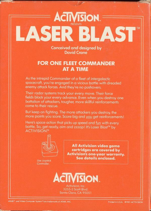 Laser Blast - Box Back