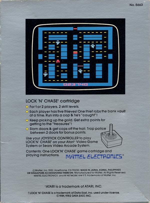 Lock 'N' Chase - Box Back