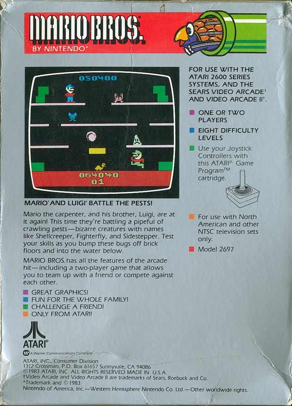 Mario Bros. - Box Back