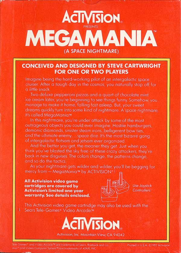 Megamania - Box Back