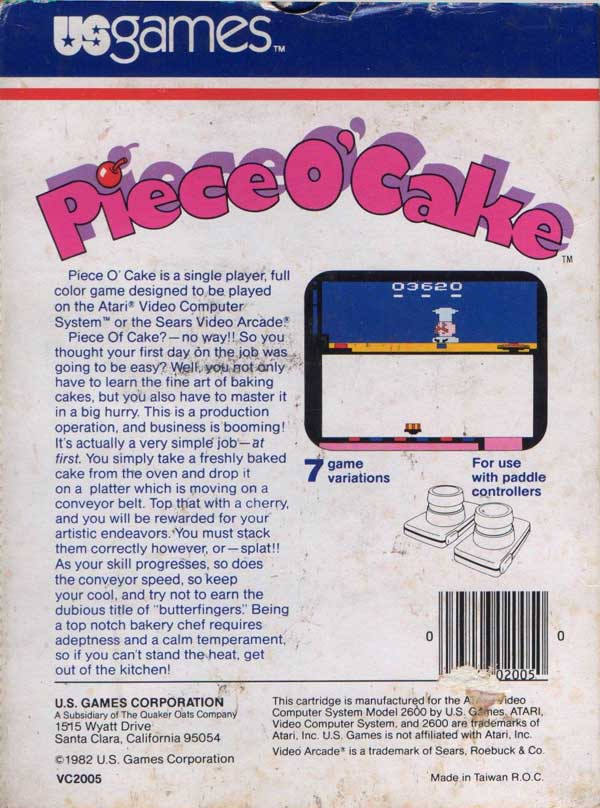 Piece o' Cake - Box Back