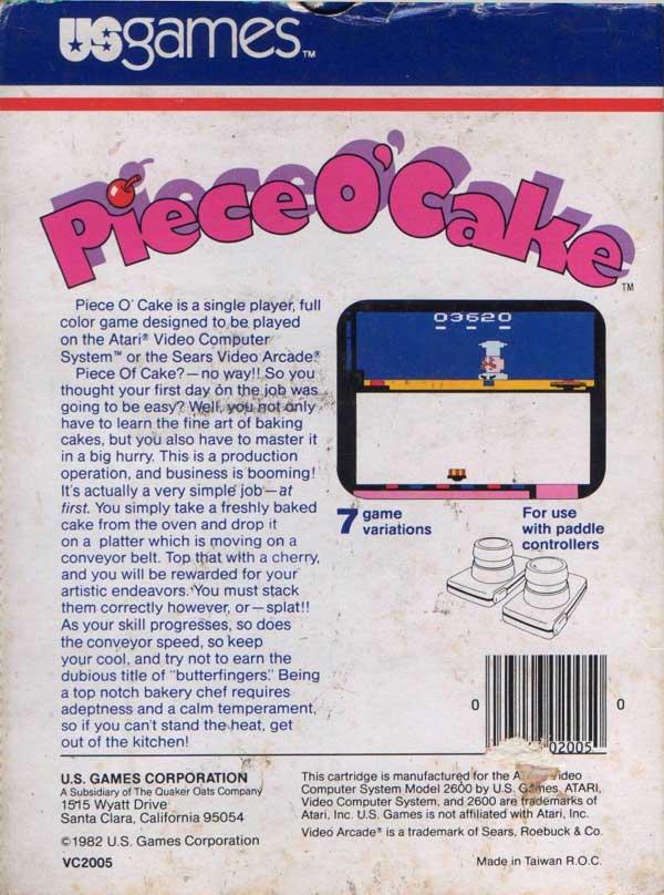 Piece o' Cake - Box Back