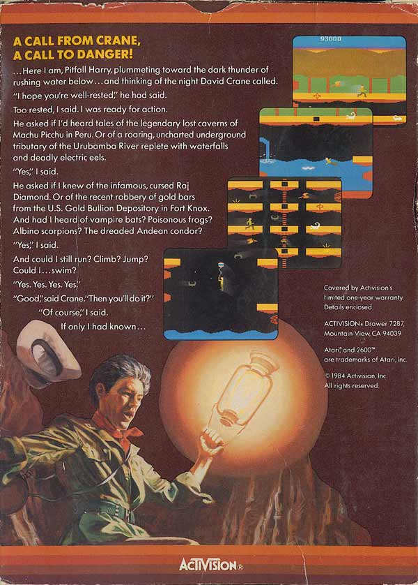 Pitfall II: Lost Caverns - Box Back