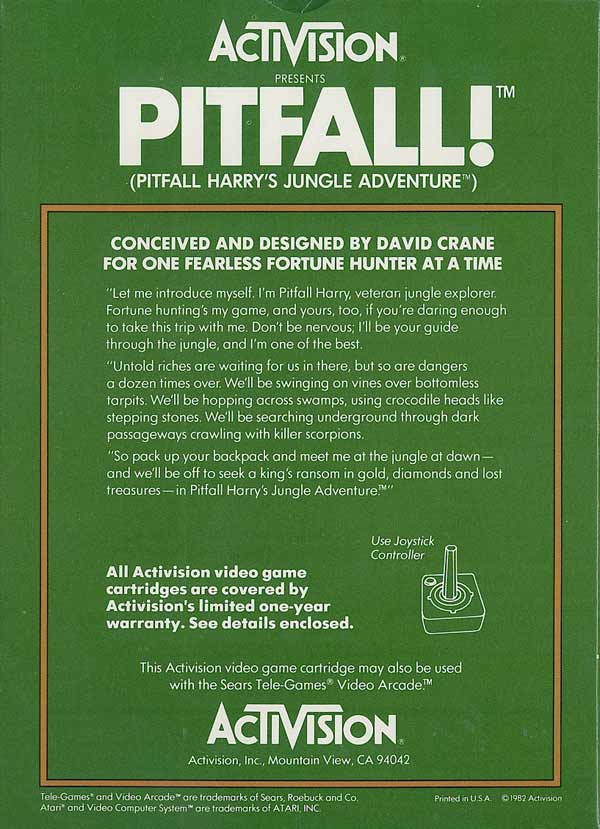 Pitfall! - Box Back