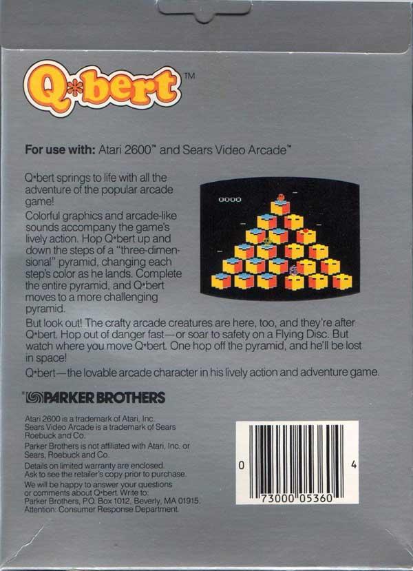 Q*bert - Box Back