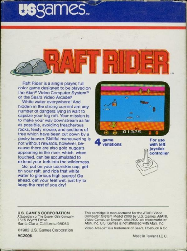 Raft Rider - Box Back