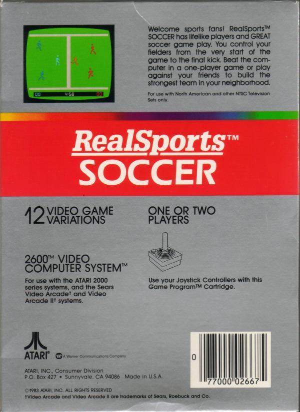 RealSports Soccer - Box Back