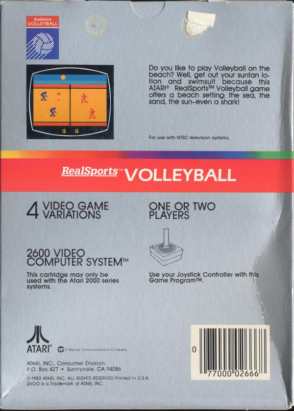 RealSports Volleyball - Box Back